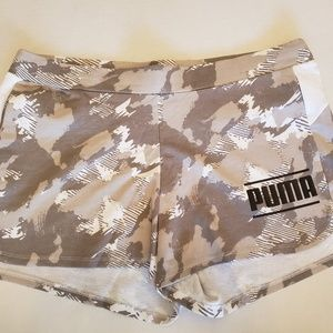 Puma Gray Camo Shorts | Activewear Womens Size L